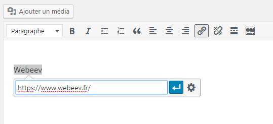 Comment faire un lien url avec WordPress