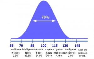 QI moyen courbe
