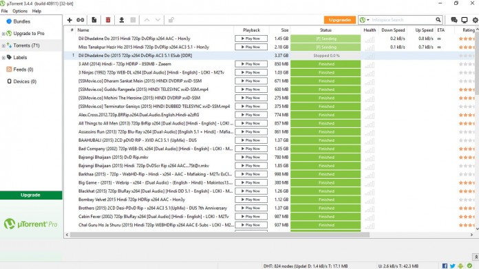 Client torrent p2p utorrent