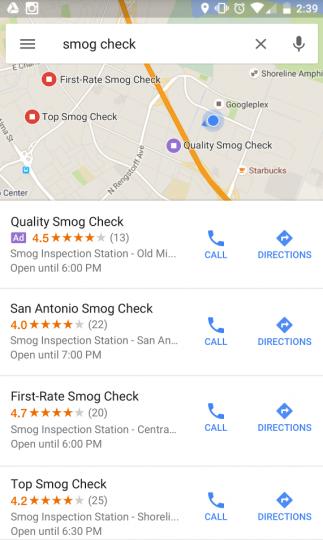 Pub sur Google Maps