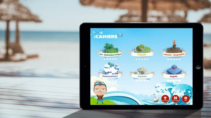 Cahier de vacances sur tablette