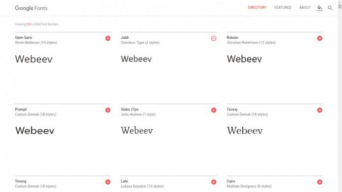 Nouveau Google Fonts 2016