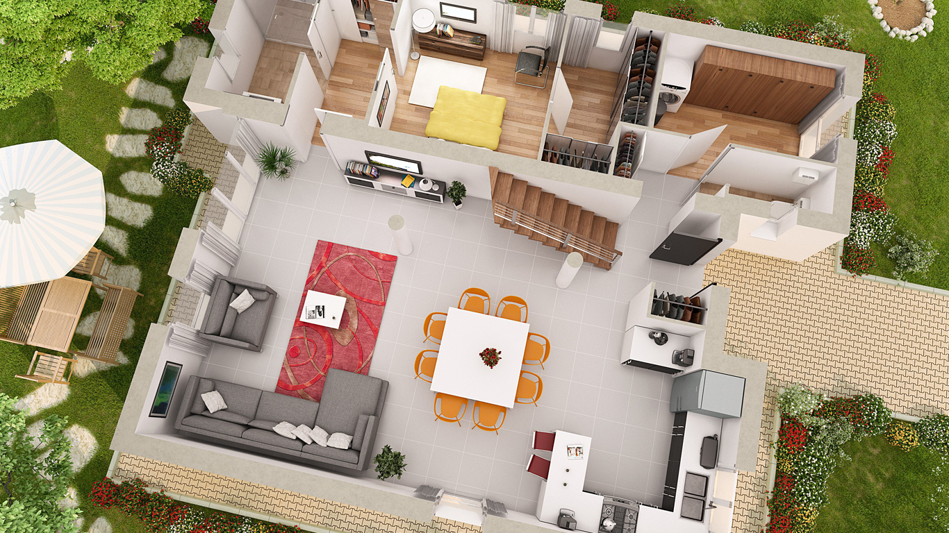 Top 7 des sites pour cr er un plan maison 3d gratuit en for Plans en 3d
