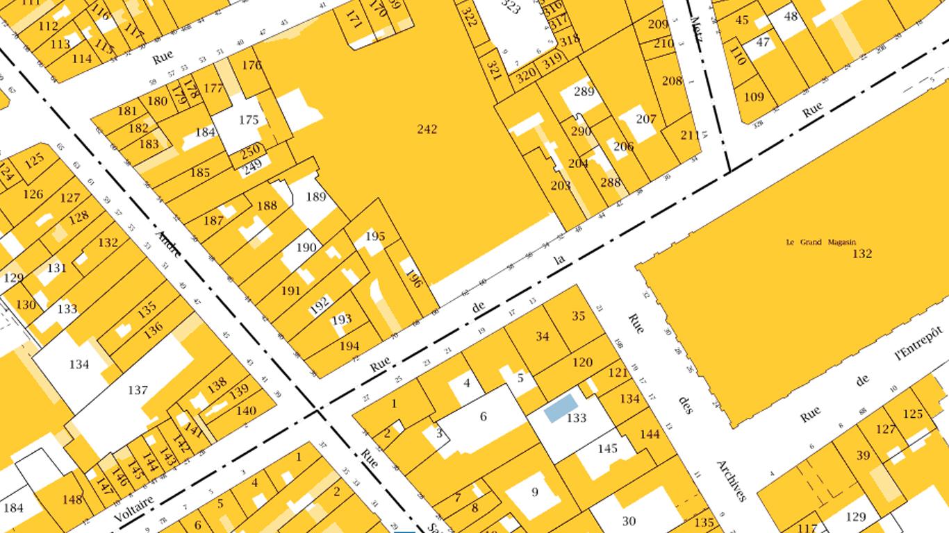 Trouvez le plan cadastre gratuit d 39 une commune - Releve cadastral de propriete gratuit ...