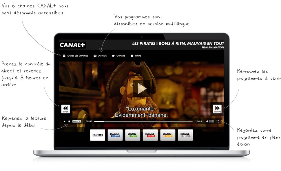Canal+ live streaming