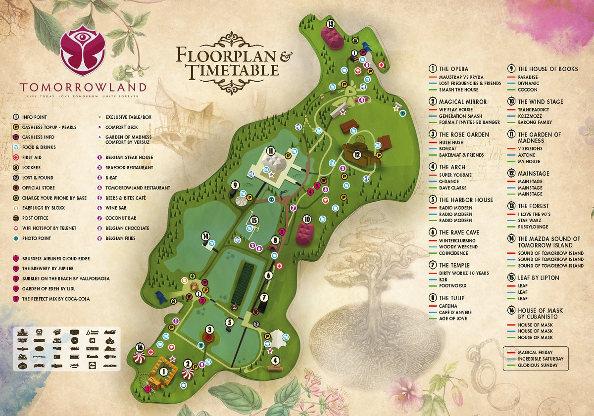 Floor Plan Of Church Tomorrowland 2016 Live Streaming Sur Internet