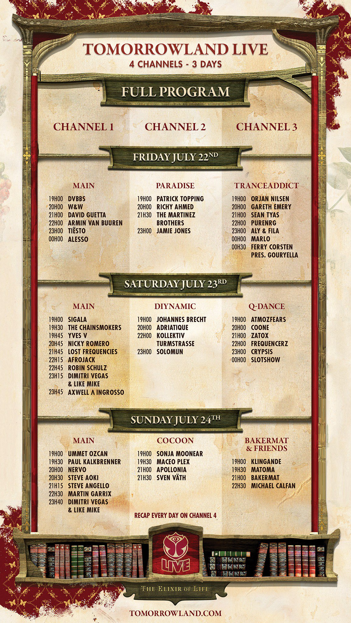 Tomorrowland 2016 programme