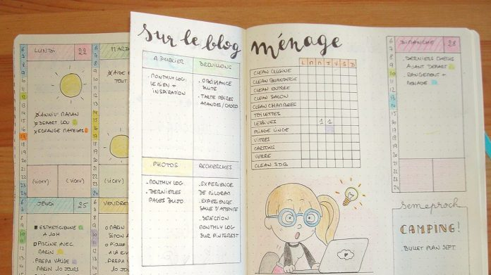 Bullet journal exemple