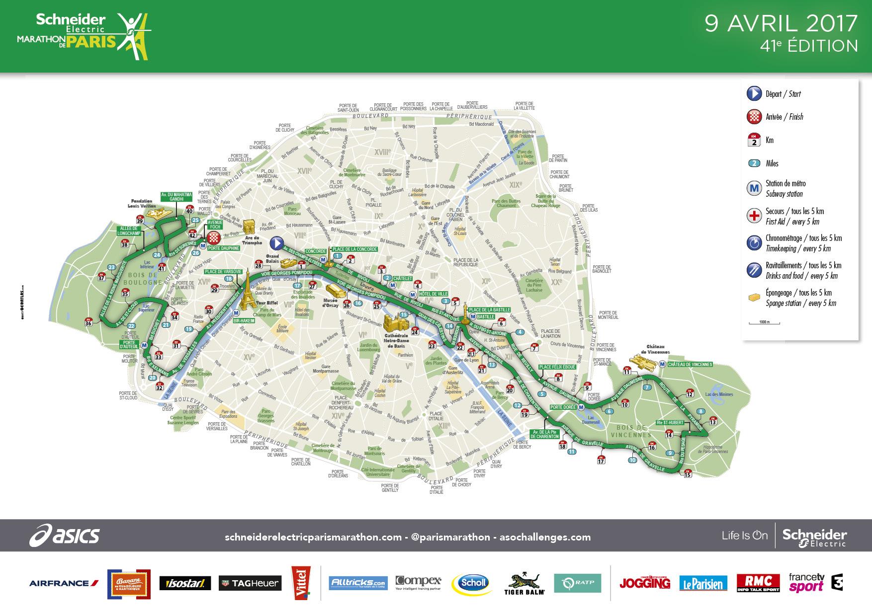 Marathon de paris 2017 parcours