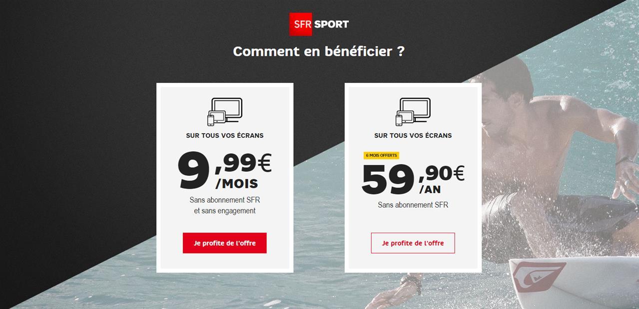 Tarifs SFR Sport