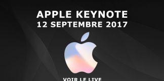 Apple Keynote septembre 2017 live phone 8