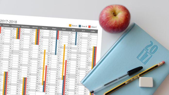 Calendrier scolaire 2017-2018 à imprimer