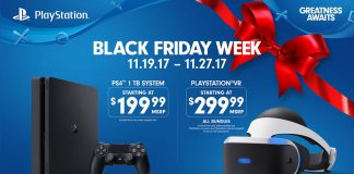 Black Friday Playstation PS4 PS VR 2017