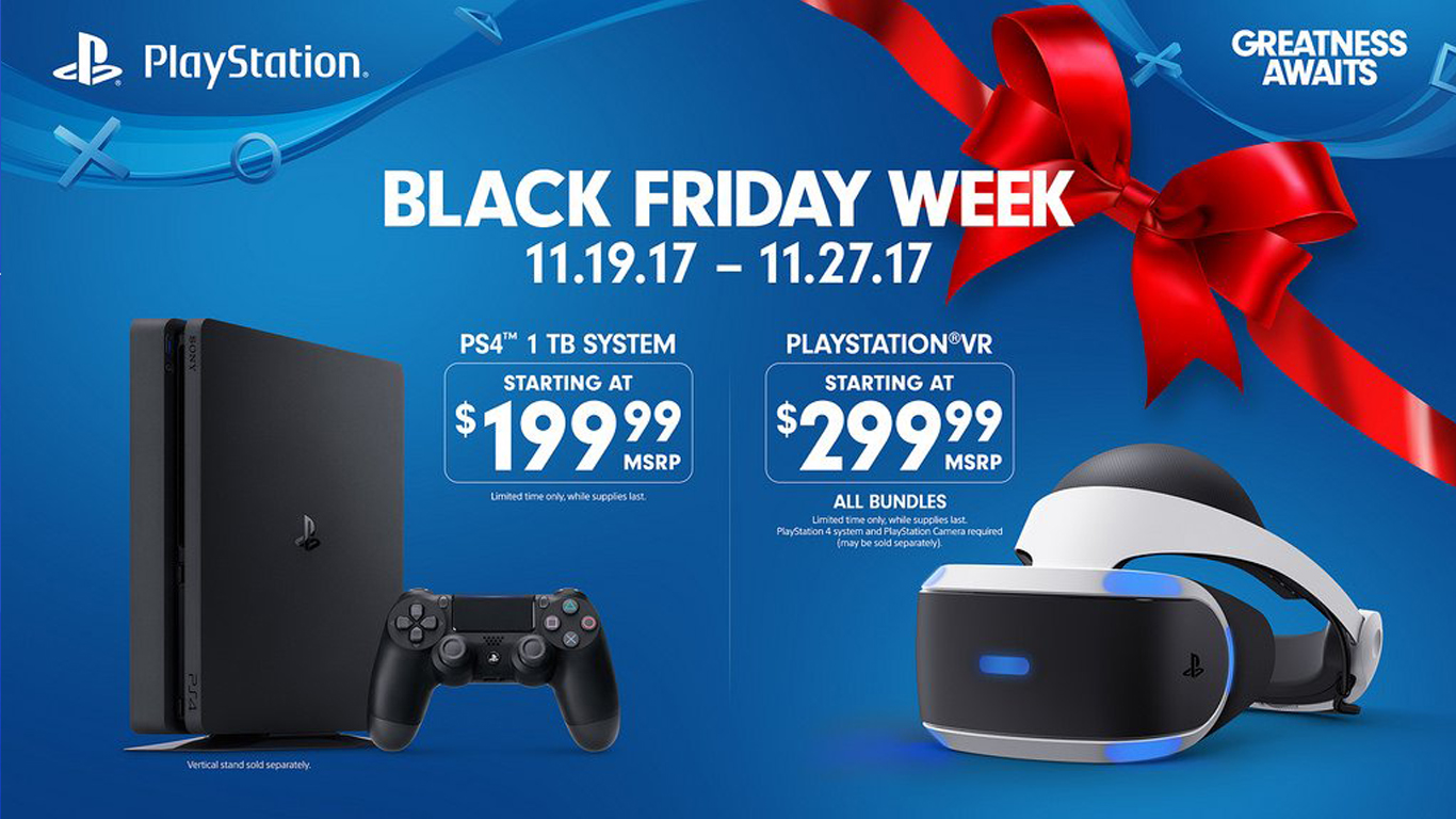 Black friday 2017 : Sony PS4 et PS VR en promotion
