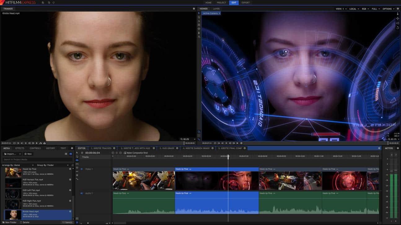 Logiciel de montage vidéo gratuit Hitfilm express