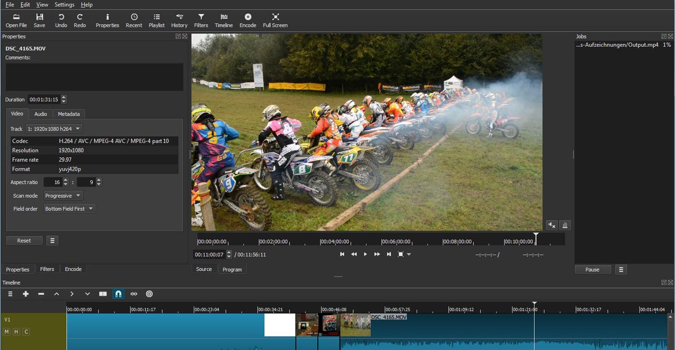 Logiciel de montage vidéo gratuit Shotcut