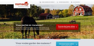 Nomador.com, site de home sitting