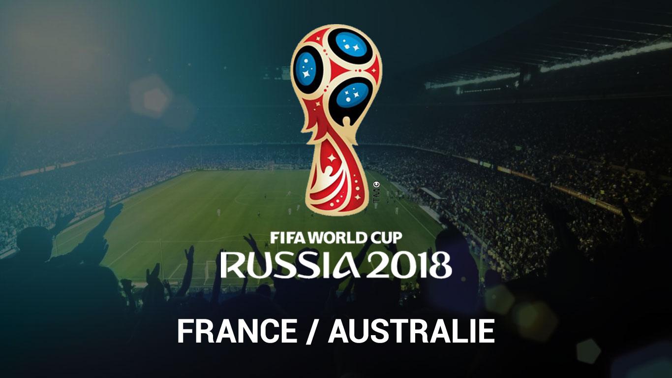 coupe du monde 2018 regarder france australie en streaming live. Black Bedroom Furniture Sets. Home Design Ideas