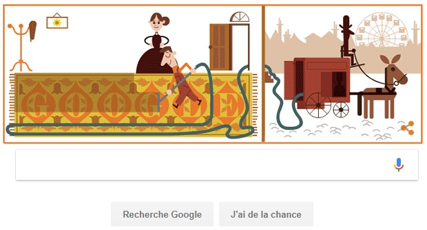 Doodle Google Hubert Cecil Booth
